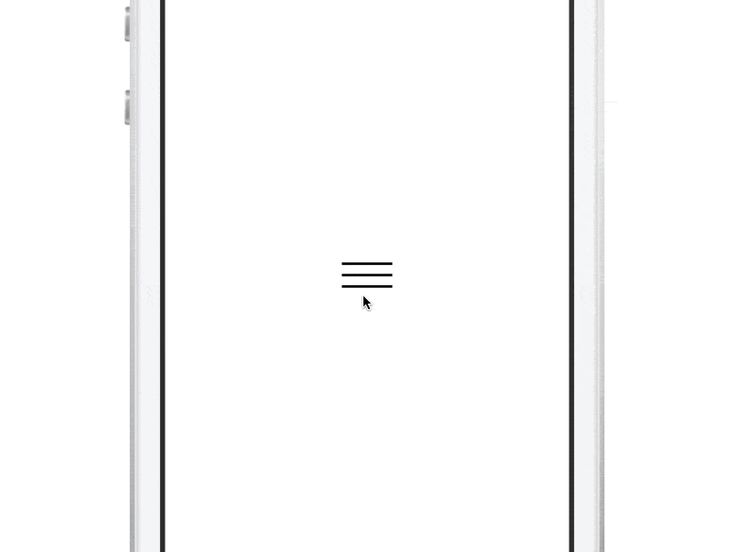 Touch Menu Open and Close Animation, minimal user interface design #UI #GIF
