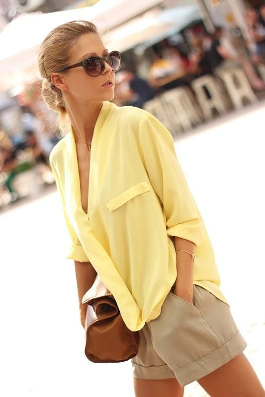 Love the yellow and tan together