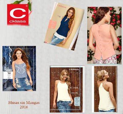 Blusas sin Mangas para Mujer, Moda de Cklass 2016. #modamujer #blusassexys