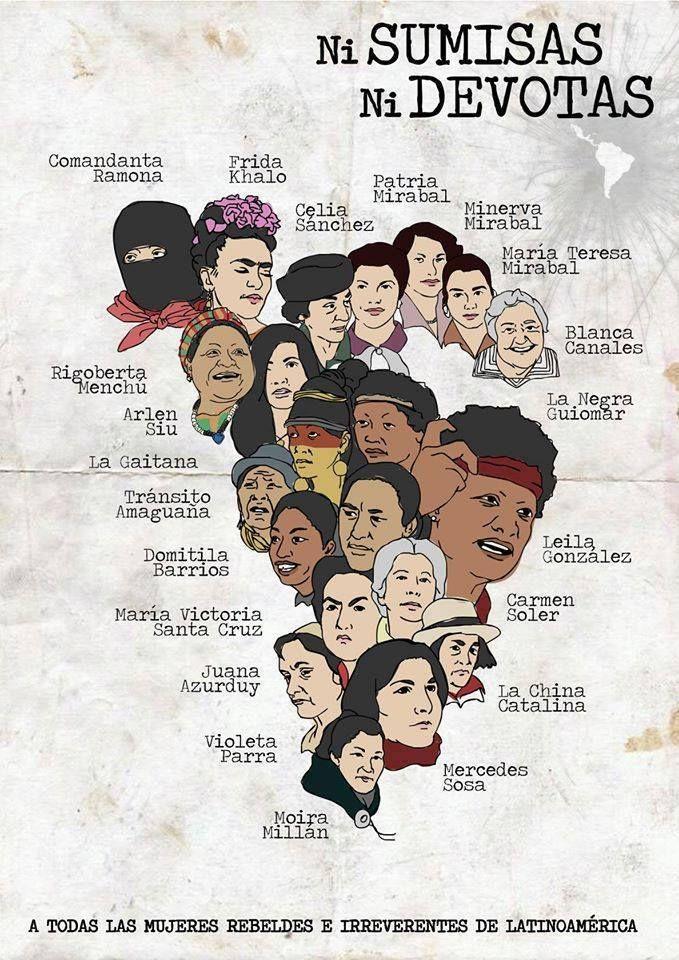 Mapeando mujeres rebeldes y revolucionarias en Latinoamérica