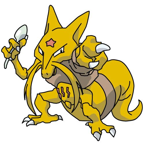Kadabra (ユンゲラー Yungerer?) es un Pokémon de tipo psíquico. Es la segunda etapa de Abra. http://hechosyvidas.blogspot.pe/2016/09/kadabra.html
