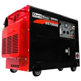 Ideal for use on farms and ranches, maintenance, construction, and even emergency power outages at home, the DuroStar DS7000Q diesel-powered generator cranks out an impressive 6,000 peak watts of power and a constant of 5,500 watts. It features a fully enclosed frame, and its combination of super quiet muffler and soundproofing help to reduce engine […]
