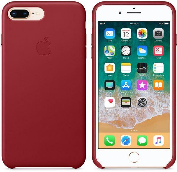 آبل آيفون 8 بلس أحمر غطاء جلدي باللون الأحمر Camera Photo Tablet Electronic Products