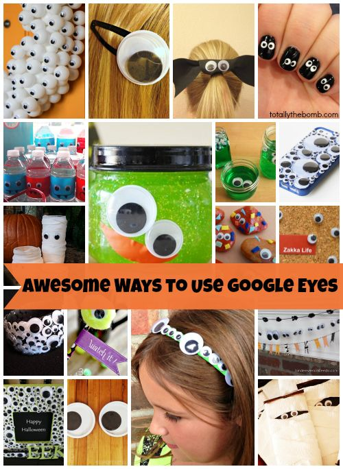 I can't help it, I am totally into google eyes lately. I can't get enough of them on nails or awesome hair accessories! So, I have rounded up a few super cool ways for you to incorporate google eyes into your life!         Get Google Eyes Here:
