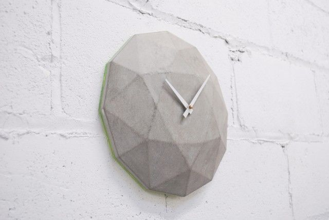 Cairo Star Cut Concrete Clock2