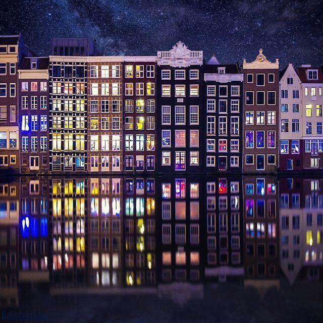 "City Best Views🔝Городские виды (@citybestviews) on Instagram: ""🌃#Amsterdam , #Netherlands 🌃 .. 📷⭐📷Photo by: @adrianredcom 📷⭐📷 .. Edited with Over app #bestofOver…"""