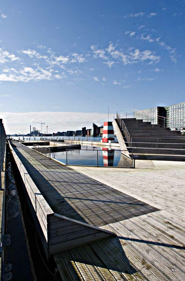 Swimming in the harbor  Designed by architectural firms BIG and JDS, the Copenhagen Harbour Bath is a simulation of a beach amidst the infra...