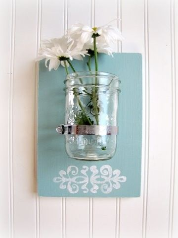 So cute and easy for a bathroom or something :) You could also put candles in