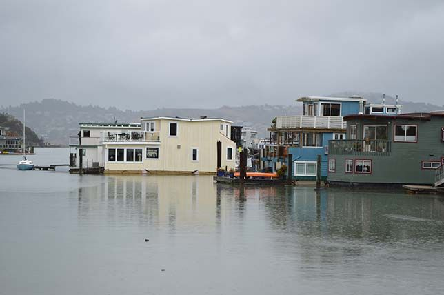 Houseboat in Sausalito, California Houseboating in Sausalito used to be a relatively cheap way to live but no longer. Slip fees alone can run close to $1,000 per month. (Photo: Daniel Hartwig/flickr)