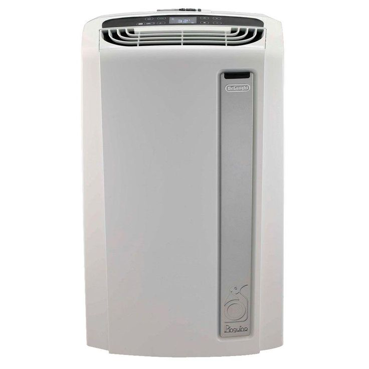 DeLonghi Pinguino 14,000 BTU Whisper Quiet Portable Air Conditioner with Heat Pump and BioSilver Air Filter, White