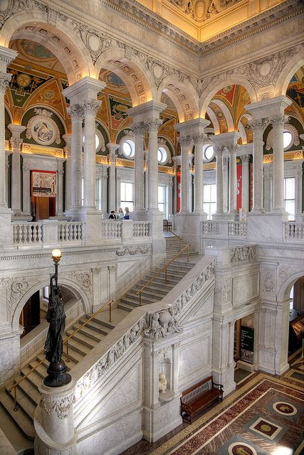 Definitely a must-see when in the country's capital.  Gorgeous building... and it's a library, after all - can't go wrong with that!!!  Library of Congress, Washington DC