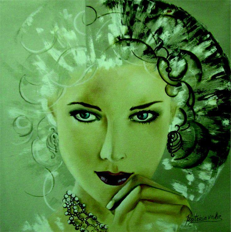 "Artista: Patricia Valor ""Atenea"" oleo 40 x 40cm"