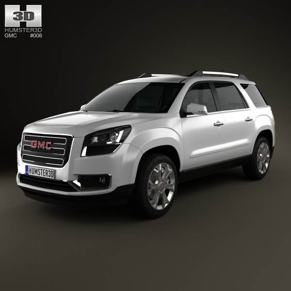 3d Model Of Gmc Acadia 2013 Chevrolet Trax Gmc Ford Suv