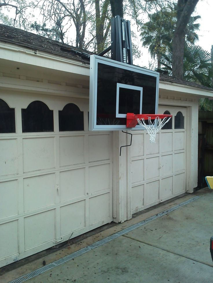38 best images about roofmaster roof mount basketball for Basketball garage