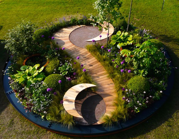 Designed by Carolyn Grohmann.  Overhead view of show garden.
