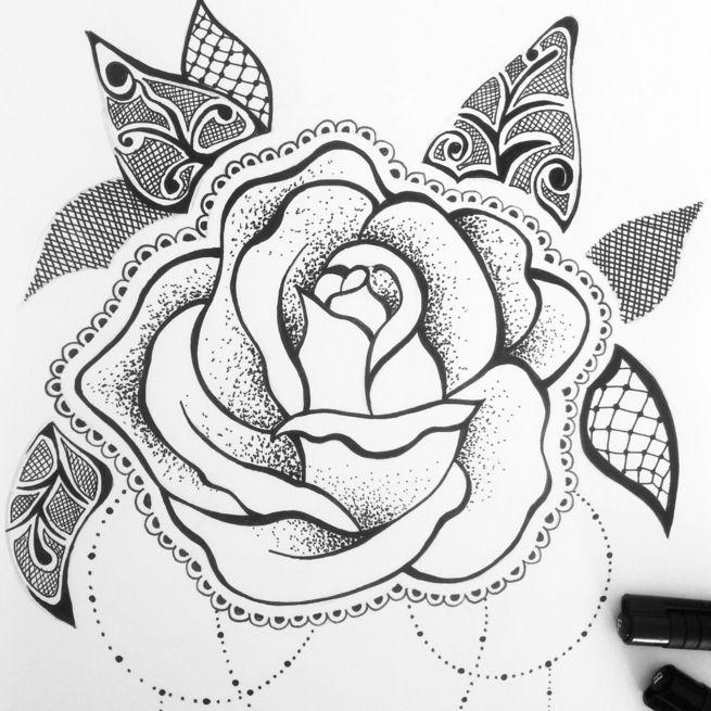 Fleurs Dessin Tatouage Roses Idee D Image De Fleur