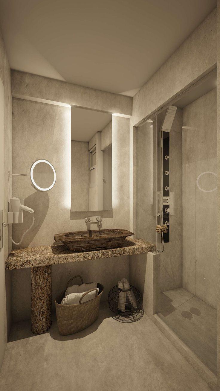 Nisos Junior Suite - Bathroom, Elakati Luxury Boutique Hotel, Rhodes , Greece