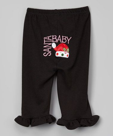 Another great find on #zulily! Black Santa Hat Ruffle Pants - Infant & Toddler #zulilyfinds