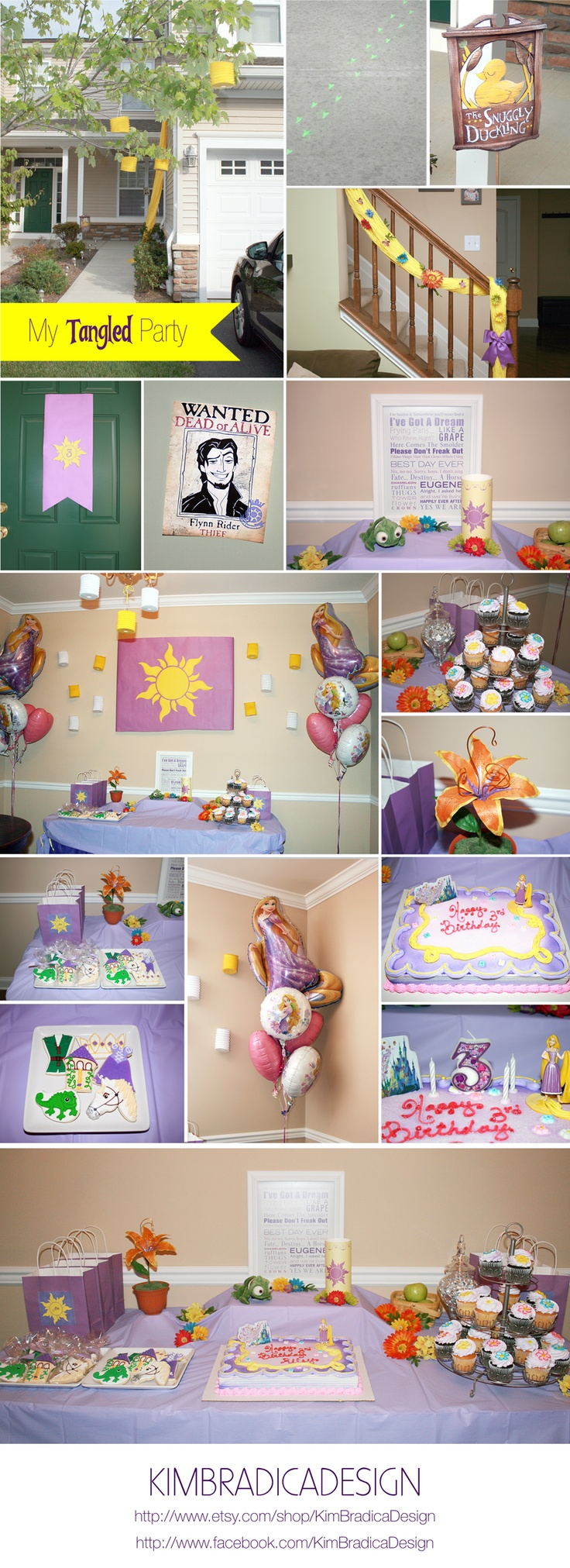 My Tangled Party... We need a snugly duckling sign!