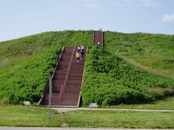 Cahokia Mounds in southern Illinois. These are actually mounds that are all over southern Illinois but the museum and the mound you can climb on is in Collinsville, IL just over the bridge from St Louis, MO. I only live about 20 minutes south of the main mound.