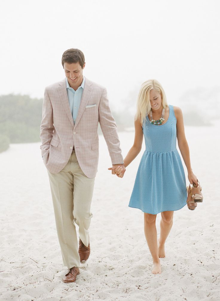 College Sweethearts' Engagement Shoot at Carmel by the Sea. See more on SMP Weddings: http://www.StyleMePretty.com/california-weddings/2014/05/23/carmel-by-the-sea-engagement/ Photography: AaronSnowPhotography.com - Styling by Lindsay Gibson of GibsonEvents.com