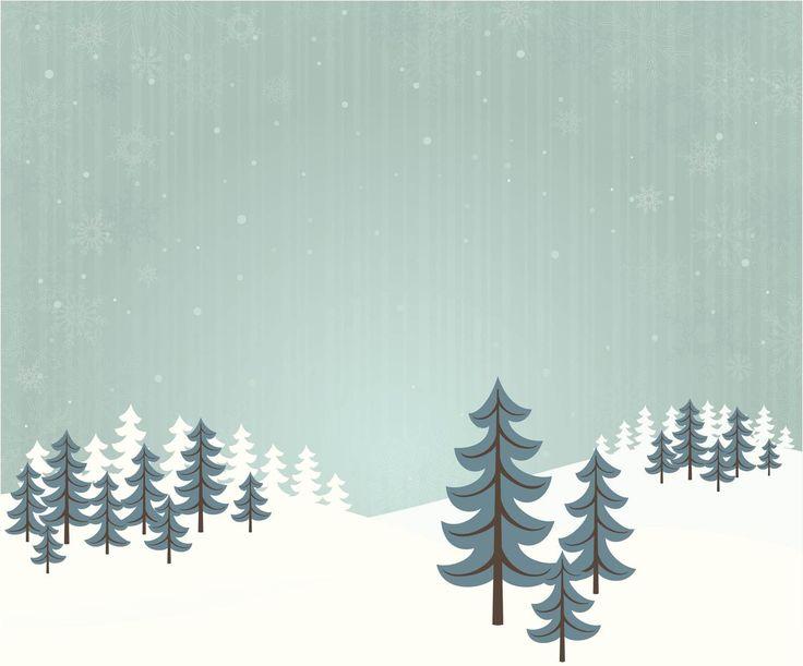 Winter skogslandskapet fototapet/tapet fra Happywall