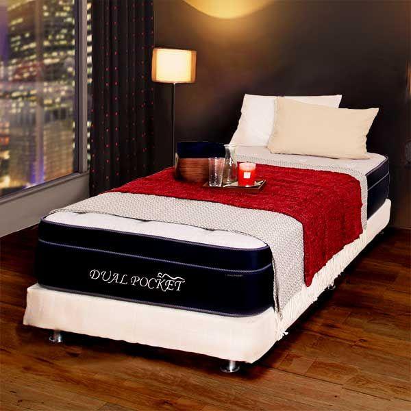 ダブルクッションベッド+マットレスセット(14CM/デュアルポケット2 ...