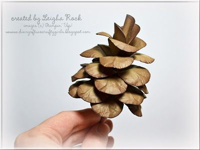 Yes, Stampin'Up! punches and paper to make a paper pine ...