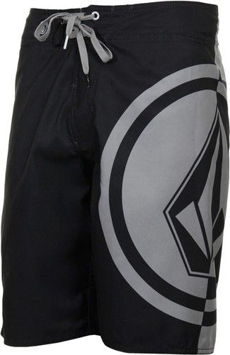 NEW Mens Volcom Mega Circle Pure Function Boardshort Shorts Slate Grey Black | eBay