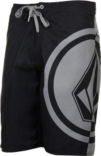 NEW Mens Volcom Mega Circle Pure Function Boardshort Shorts Slate Grey Black | eBay