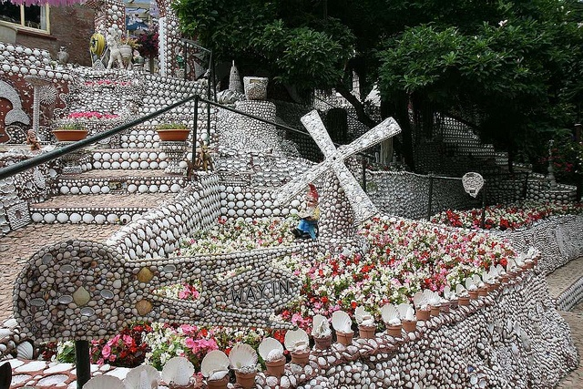 Shell Garden - St. Brelade, Jersey, Channel Islands.