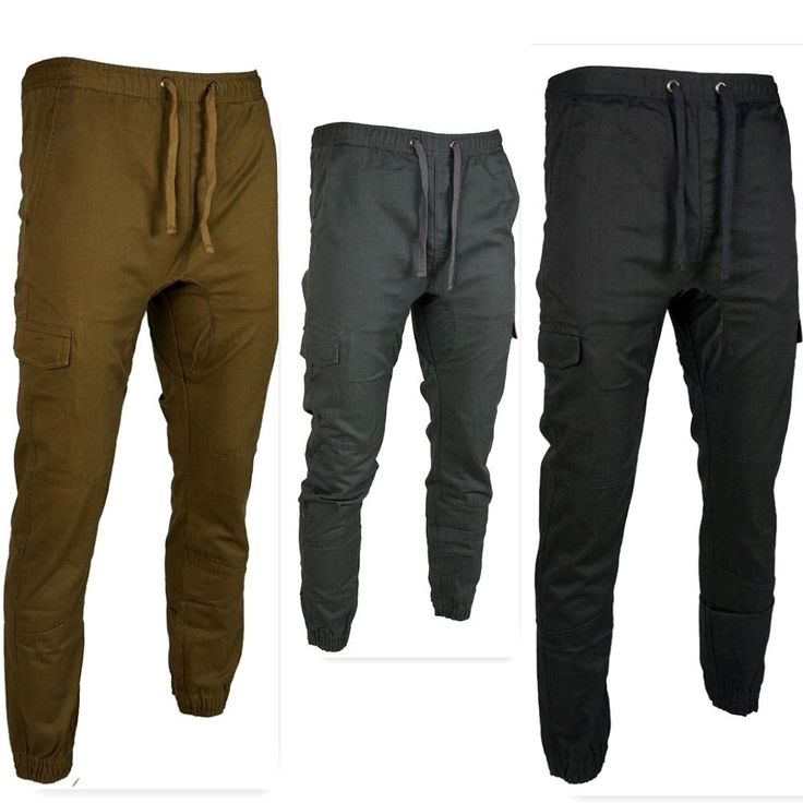 Ecko Men's Drop Crotch Twill jogger Pants With Side Pockets Charcoal,Khaki,Black #EckoUnltd #JoggerPants