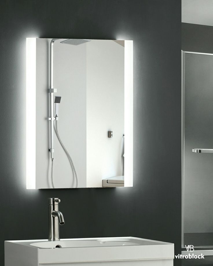 ESPEJO LED ELUNEY Iluminación Led | Desempañador   ⚬ Medidas: -50 x 70 x 4,5 cm. . . #Vitroblock #Espejos #EspejosLed #Led #Decoración #Decohogar