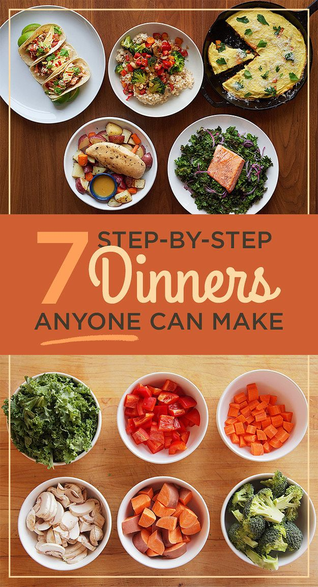 These Beginner Dinners Will Teach You How To Cook Here's your crash course on how to make easy, homemade meals — complete with step-by-step videos, full recipes, and more.