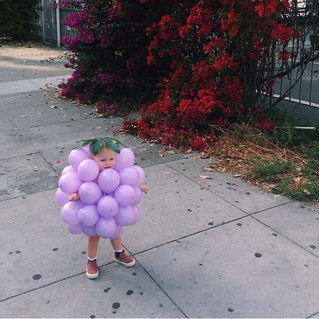 Oh my goodness, a little grape, so cute!