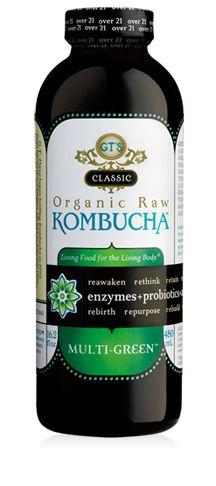 GT's Classic Multi-Green Kombucha. Organic & Raw. #Kombucha