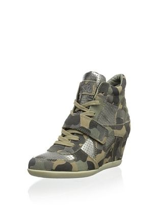 50% OFF Ash Women's Bowie Wedge Sneaker (Military Piombo)