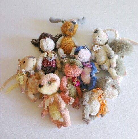 cute artist teddy bears and toys are available at www.etsy.com/shop/CreaturesPretenders #teddybears #artist #ooak #etsy