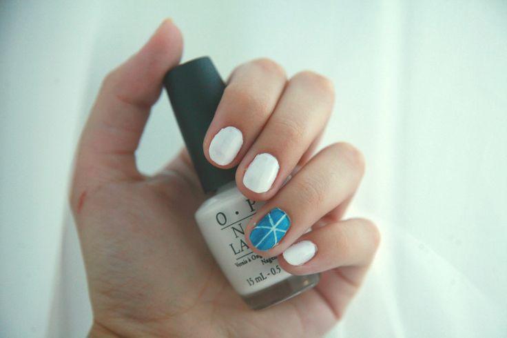 Polish Me Pretty: White + Blue = Love | The Pretty Blossoms
