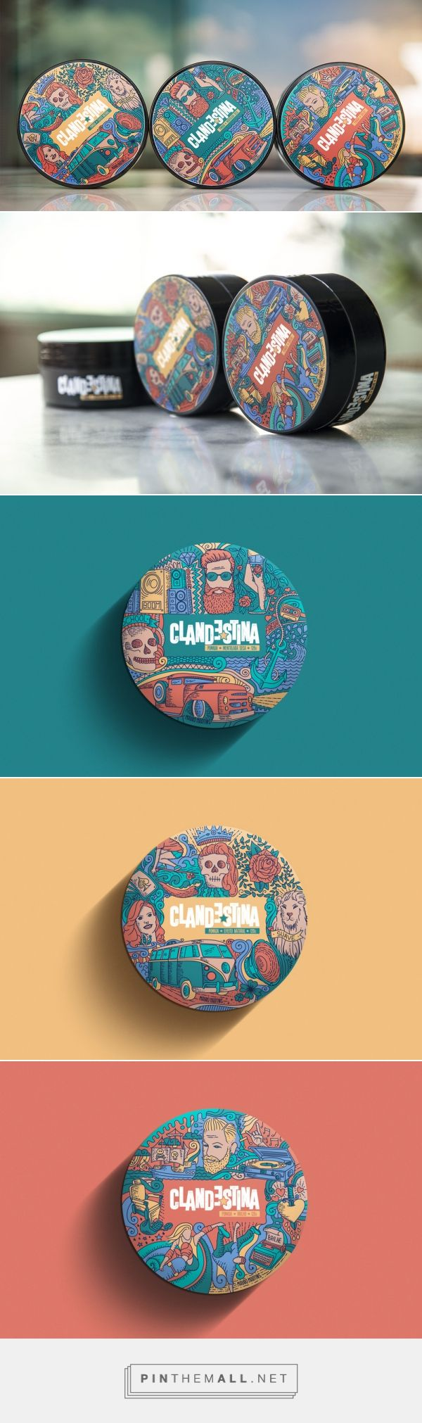 Clandestina Hair Pomades — The Dieline - Branding & Packaging Design - created via https://pinthemall.net