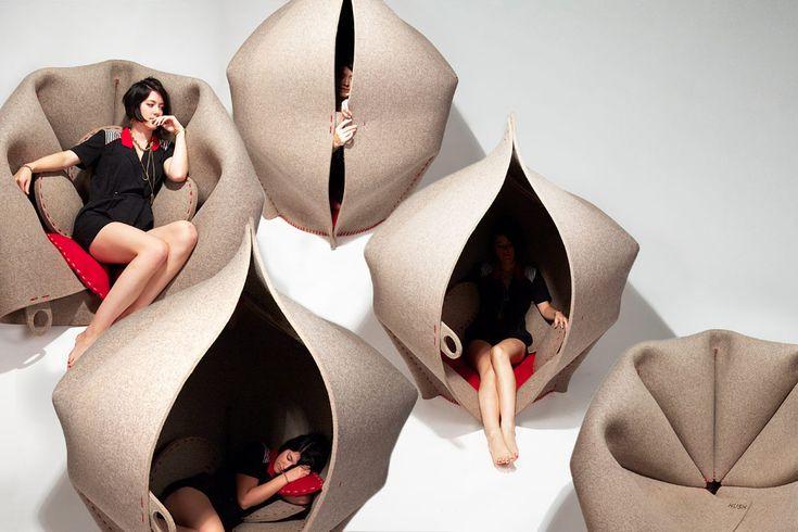 L'esprit cocon et modulable du fauteuil Hush de Freyja Sewell