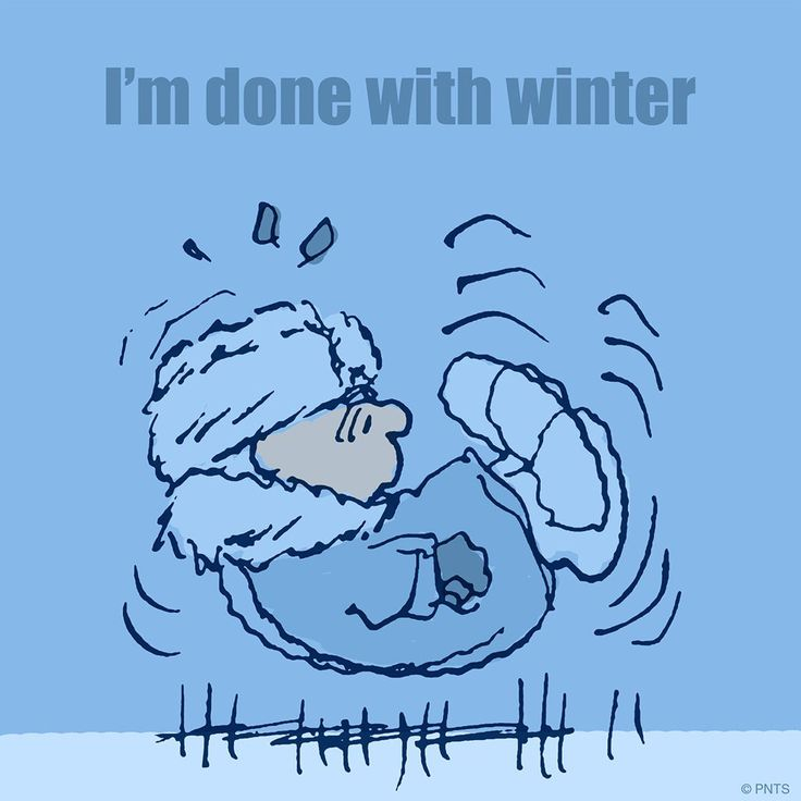 I'm done with winter! ~ Charlie Brown | Peanuts official via Twitter