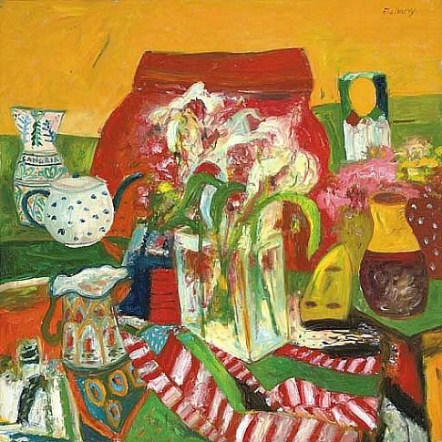 John Bellany Red Still Life 20th century