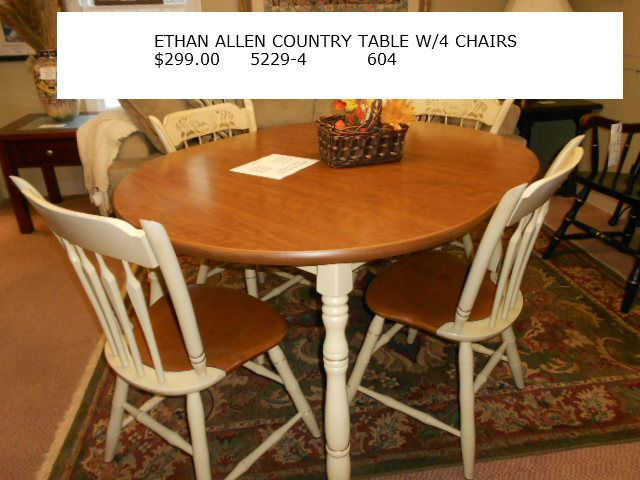Ethan Allen Country Table With 4 Chairs 299 00 Kitchen