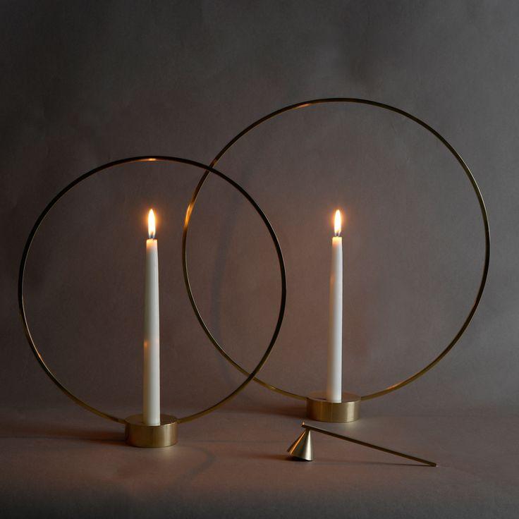 Gloria ljusstake - mässing, liten - Ljusstakar & Ljuslyktor – Möbler från Svenssons i Lammhult