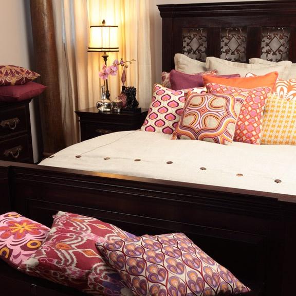 bohoDecor Ideas, Beds, Boho Pillows, Pillows Pattern, Decor Pillows, Colors Pillows, Boho Decor, Apartments Decor, Beautiful Bedrooms