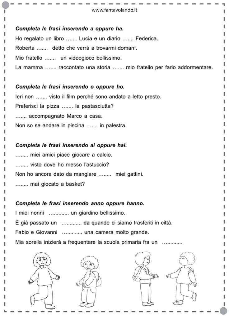 Risultati immagini per schede di verifica classe seconda italiano