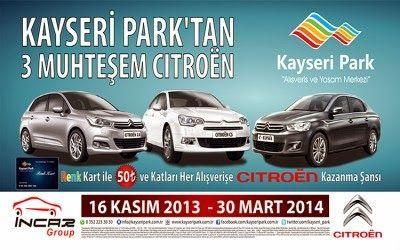 Kayseri Park Çekiliş Kampanyası - Kayseri Park Citroen Çekilişi http://www.kampanya-tv.com/2014/02/kayseri-park-cekilis-kampanyasi-kayseri-park-citroen-cekilisi.html