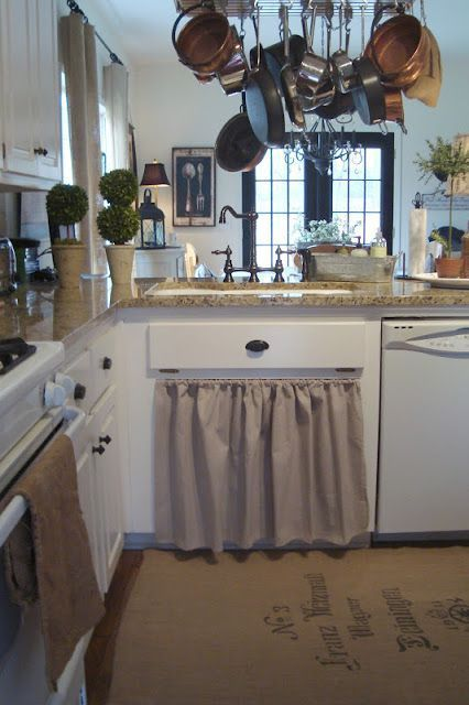 22 Kitchen Cabinet Curtain as Beautiful and Neat Cover Kitchen in