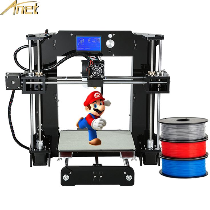 High Quality Self-Assemble Anet A6 Normal/Auto leveling A8 3d Printer machine Prusa i3 3D Printer Kit DIY add Free 10m Filament  #Affiliate